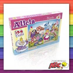 Puzzle 100 Piezas Alicia en...